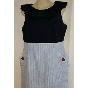 Nwot AGB nautical striped dress
